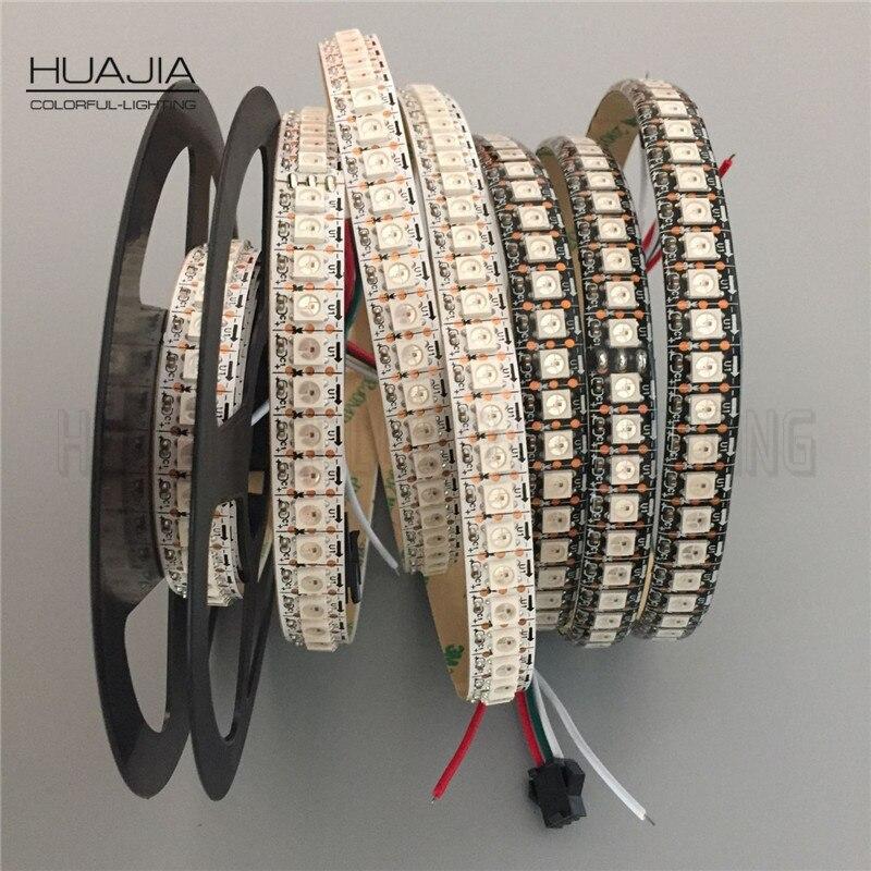 1M/2M/5M WS2812B 5V RGB Addressable LED Strip Black&White PCB 30/60/144 leds/m 2811 IC Built-in 5050LED IP30/IP65/IP67 Pixels