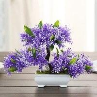 Yapay bitki küçük ağacı plastik saksı yapay çiçek yeşil bitki saksı şarap dolabı ev dekorasyon.