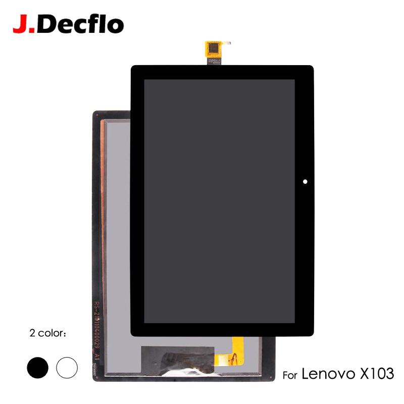 Display LCD Per Lenovo Tab 3 10 Più TB-X103F TB-X103 Pannello Touch Screen Digitizer Sensore di Modulo A Matrice di Montaggio Senza Cornice 10.1''