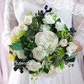 Лес Стиль Многоцветный Свадебный Букет Для Свадебные Цветы Шелк Красивый Искусственный Свадебный Букет Buque Noiva рамос де novia
