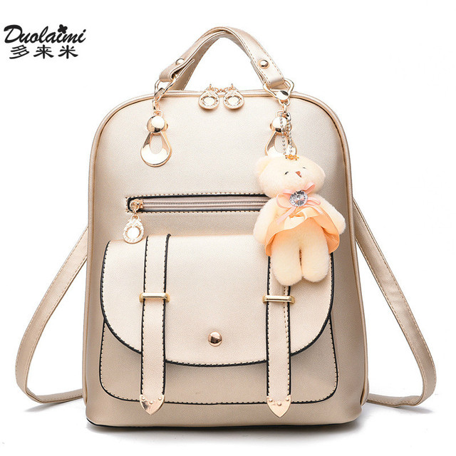 fashion Women Backpack ladies leather Small backpack Casual School Bags  Teenagers Girls vintage Female Travel backpack Mochilas adf0782207