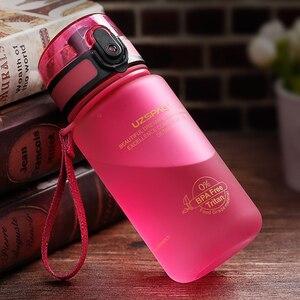Image 4 - UZSPACE 350ml Spor Su Şişesi Çocuk Güzel Çevre Dostu Plastik Sızdırmaz Yüksek Kaliteli Tur Taşınabilir benim içme şişesi BPA Ücretsiz