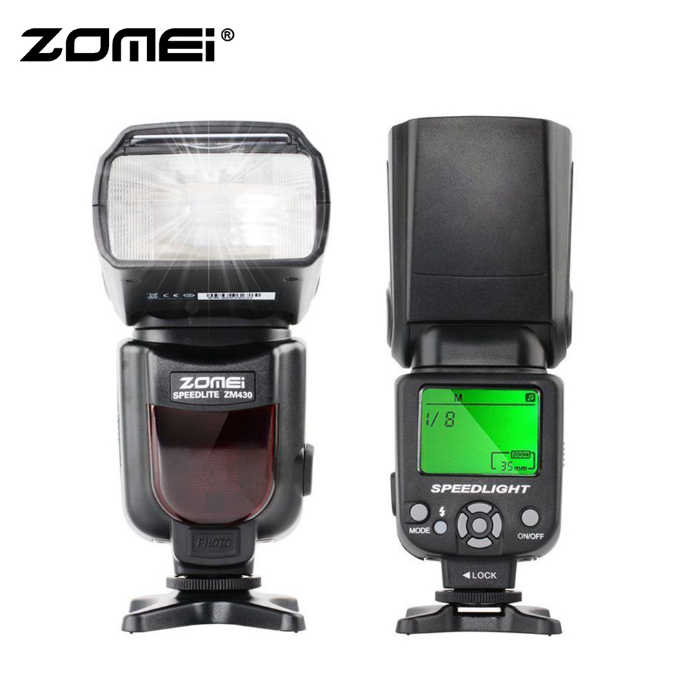 Zomei ZM430 จอแสดงผล LCD Blitz แฟลช Speedlite สำหรับ Nikon D5500 D3300 D7200 D3400 D5300 D500 D7500 D750 D5600 สำหรับ Canon PK VK430-ใน แฟลช จาก อุปกรณ์อิเล็กทรอนิกส์ บน AliExpress - 11.11_สิบเอ็ด สิบเอ็ดวันคนโสด 1