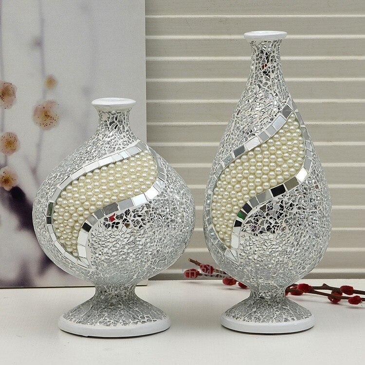 Broken Glass Vase: New Brief Quality Resin Broken Glass Pearl By Hand Vase
