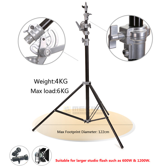 4m/13ft Photography Studio Heavy Duty Light Stand Professional Aluminum Alloy Studio Light Stand Tripod pro heavy duty studio centry c stand detachable light c stand gobo arm line resizer for flash strobe flag reflector