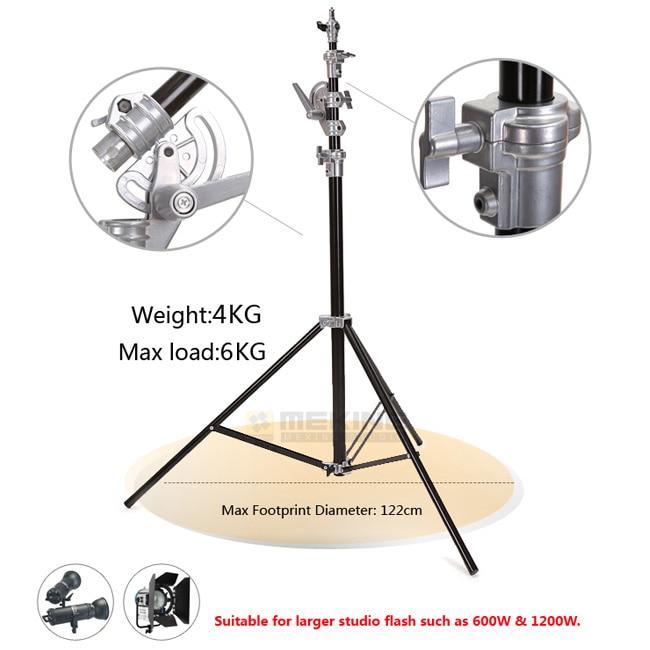 4m/13ft Photography Studio Heavy Duty Light Stand Professional Aluminum Alloy Studio Light Stand Tripod  цена и фото
