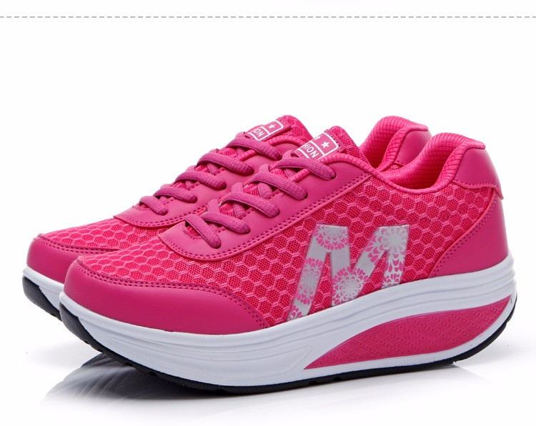 Slimming Shake shoes Women Fashion Breathable Mesh Casual Shoes Spring Summer Lace Up Women Swing Shoes Platform Trainers YD52 (21)