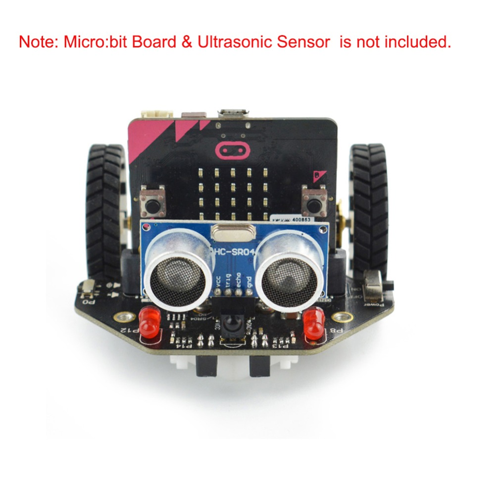 Micro Maqueen Smart Car for micro bit Graphical Programming Robot Mobile Platform without micro bit Board for Kids Education in Propulsion from Consumer Electronics