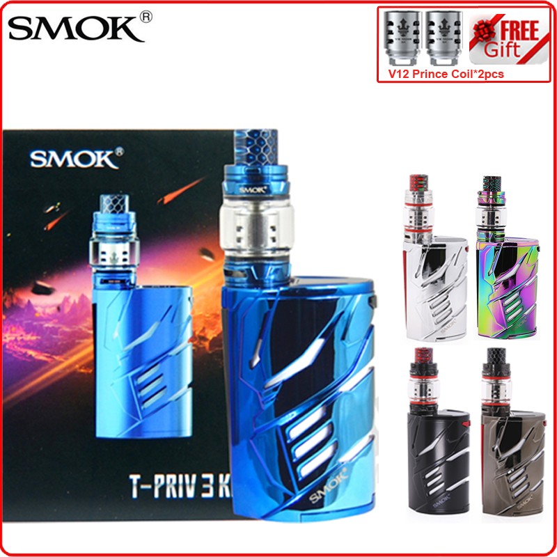 US $104 27 |Vape Kit Original SMOK T PRIV 3 300w Electronic E Cigarette  with 8ml TFV12 Prince Atomizer Tank tpriv3 T PRIV3 Mod VS G PRIV 2-in