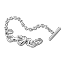 Original Mothers Day Authentic 925 Sterling Silver Jewelry Knotted Heart Bracelets For Women Fits European Beads And Charms
