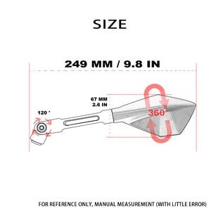 Image 2 - Motosiklet Aynaları Moto Yan Dikiz Aynaları Yamaha R1 R3 R6 R125 FZ6 FZ1 FAZER XV 950 MT07 MT09 MT 03 TMAX XMAX VMAX 1200