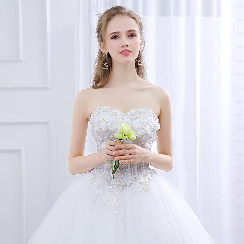 Ladybeauty Nuevo 2018 vestido de novia por encargo delgado con - Vestidos de novia - foto 6