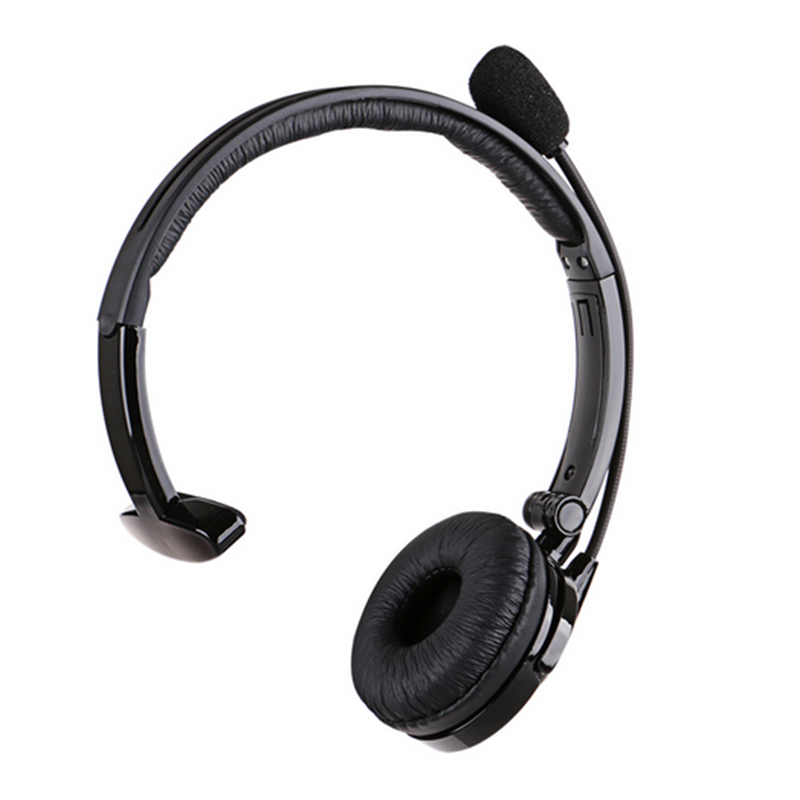 New Bluetooth Head Boom Mic Noise-Canceling Over Headset For Trucker Driver ...
