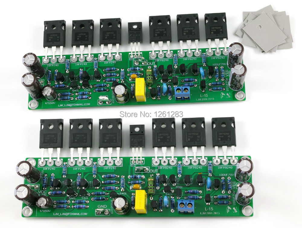 US $45 0 10% OFF|LJM DIY amplifier board Assembled L15 MOSFET amplifier  board 2 channel AMP ( IRFP240 IRFP9240)-in Amplifier from Consumer  Electronics