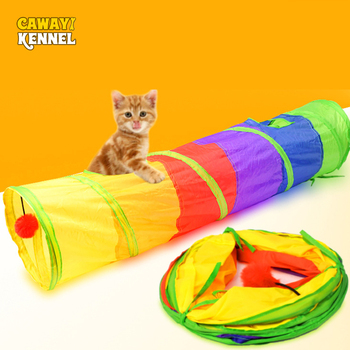 Cat Play Rainbow Tunnel