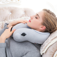 Cervical Massager Business Travel Massage Pillow U-type Simulation Kneading Push Health Care Pressing Inflatable Portable original xiaomi kneading massage pillow 3d massage pyc hot pack wireless portable office relaxation smart massager
