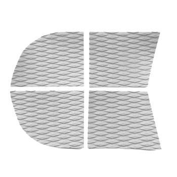 4 Pieces Adhesive Anti-slip EVA Dog Traction Pad Deck Grip Mat Tail Pad Trim Sheet for SUP Paddleboard Longboard Surfboard 1