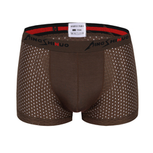 DEWVKV Men Underwear New Design Brand Boxers Modal Solid Male Soft Boxer Shorts Sexy Gay Mens Underpants Hot Sale Panties