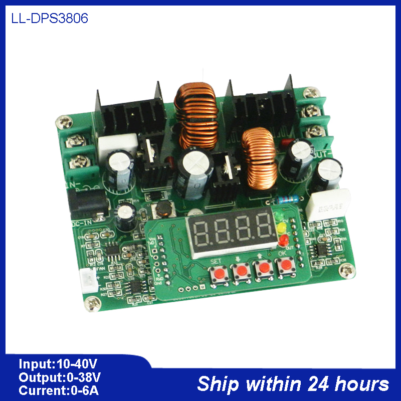0 to 38V 6A DC-DC Digital Control Boost and Buck Module/Numerical Control DC-DC Bulk (Boost) Converter Set/Didital Voltammeter