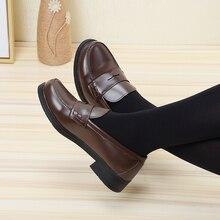 2019 nowe japońskie buty w stylu studentka Cosplay Lolita buty dla kobiet/dziewczyna moda czarne/kawy platformy buty rozmiar 35 40
