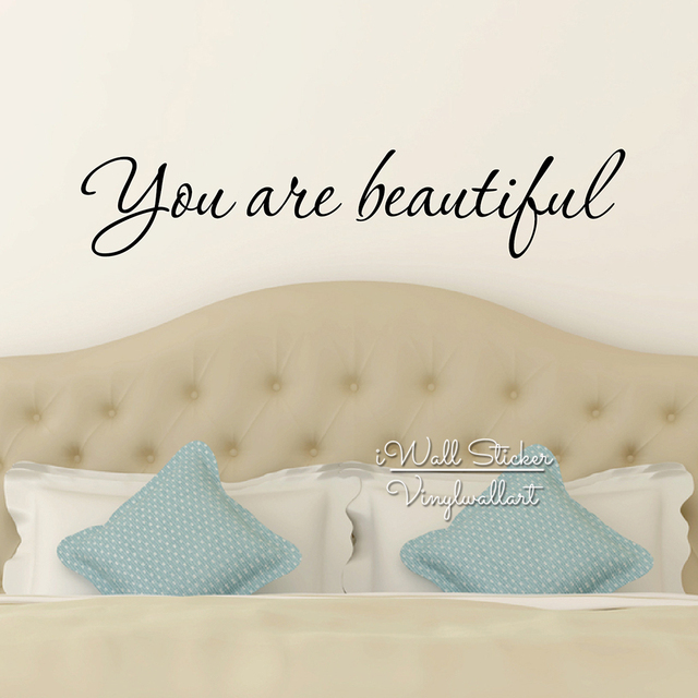 You Are Beautiful Quotes Wall Sticker Love Quotes Wall Art Decals