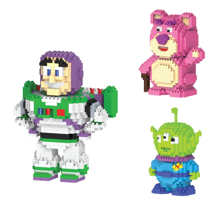 hc Magic building blocks Bear cartoon Building toys Buzz Light year Auction Figures Anime Aline Model Toys for Kids Cute Gifts
