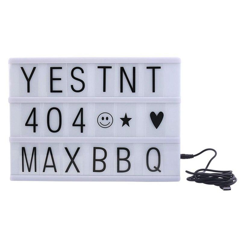 Лайтбокс кинотеатра A4 кинематический световой короб с 90 буквами Бесплатная Комбинации для свадьбы, дома, фотосессии, День рождения