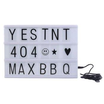 Cinema Cinematográfica Lightbox A4 Caixa de Luz com 90 Letras Combinação Livre para o Casamento, em casa, Photoshoots, Festa de aniversário