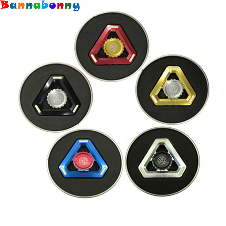 Triangular King Kong fluorescence alloy Tri Fidget Hand Spinner Toy EDC Focus Fidget Spinner ADHD Funny