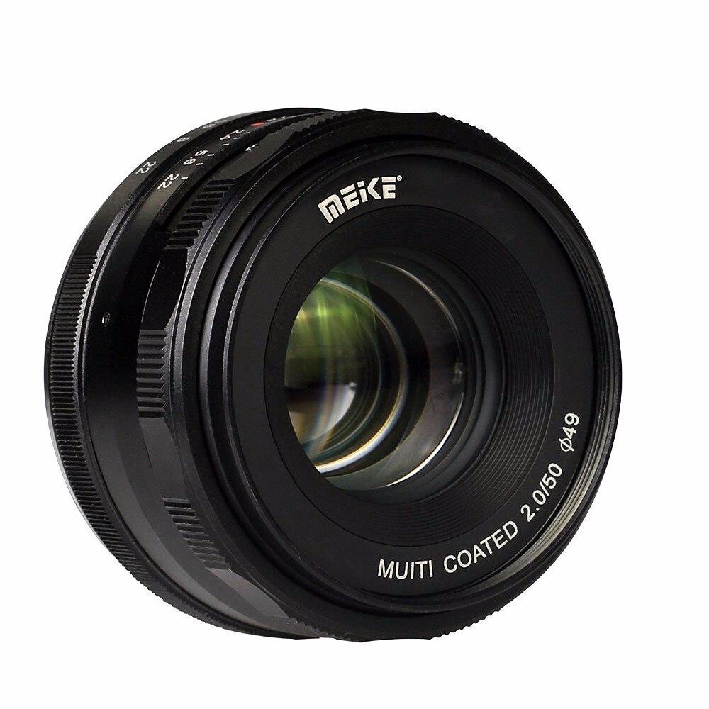 Meike MK-E-50-2.0 50mm f2.0 Large Aperture Manual Focus lens APS-C For Sony E Mount a6300 NEX7 50mm f2 0 aperture manual focus lens aps c for eosm nikon1 m43 sony e mount nex3 5t 6 7 a5000 a6000 a6300 fuji xt1 camera
