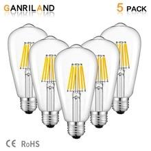 GANRILAND 12V 24V Light Bulb St58 E27 Led Bulab Daylight White 4500k Low Voltage 6W Edison 12V Led Lamp Vintage Warm White 2700K