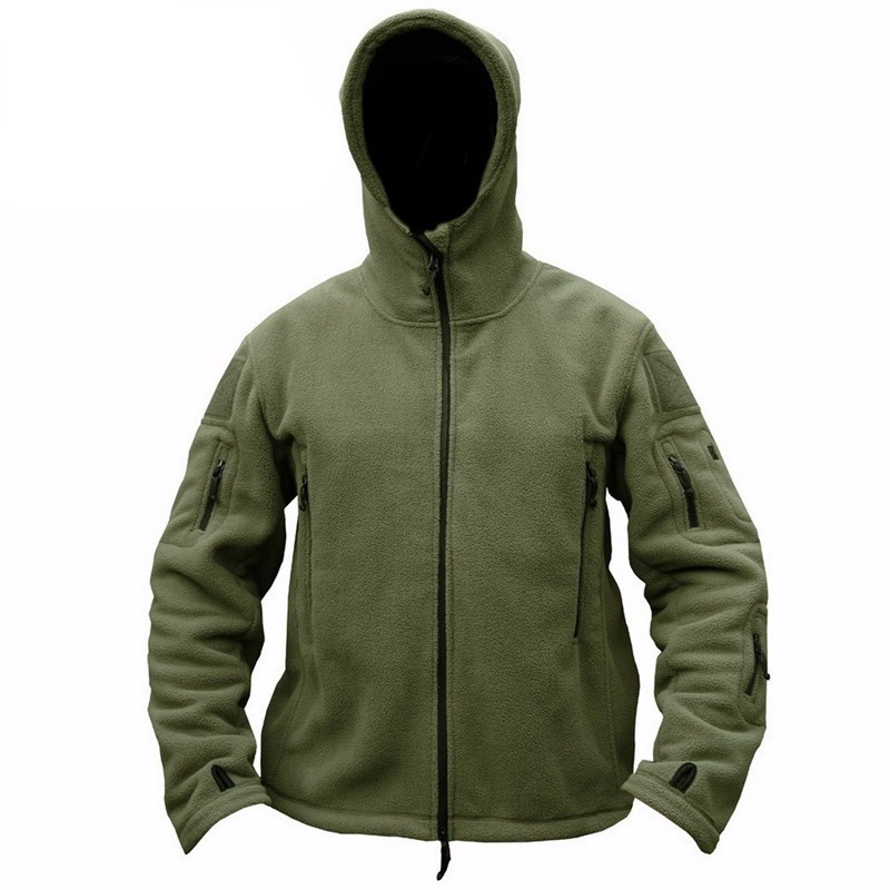 New Military Tactical Outdoor Soft Shell Fleece Jacket Men Army Sportswear Thermal Hunt Hiking Sport Hoodie