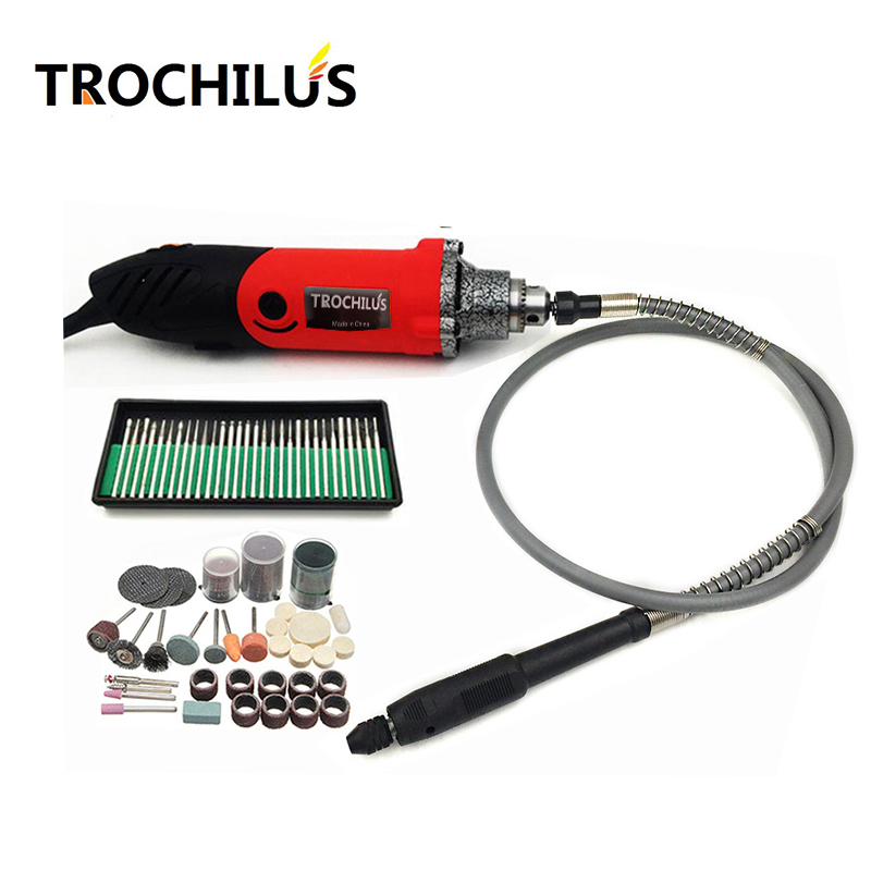 Trochilus 240W Dremel Mini Grinder Rotating Tools Variable Speed Engraver Mini Drill DIY Creative electric Tools Set 110 230v mini grinder electric dremel drill engraver regulating speed grinding machine for milling polishing dremel accessories