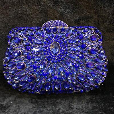 Banquet Mariée Mariage gold Sac Dîner Main 2 En Clair À Sacs Métal Noir Entièrement Bourse gold bleu Embrayage Soirée Cristal Partie De Bal champagne Cocktail Femmes 1 Bleu vert Embrayages multi Unzqv