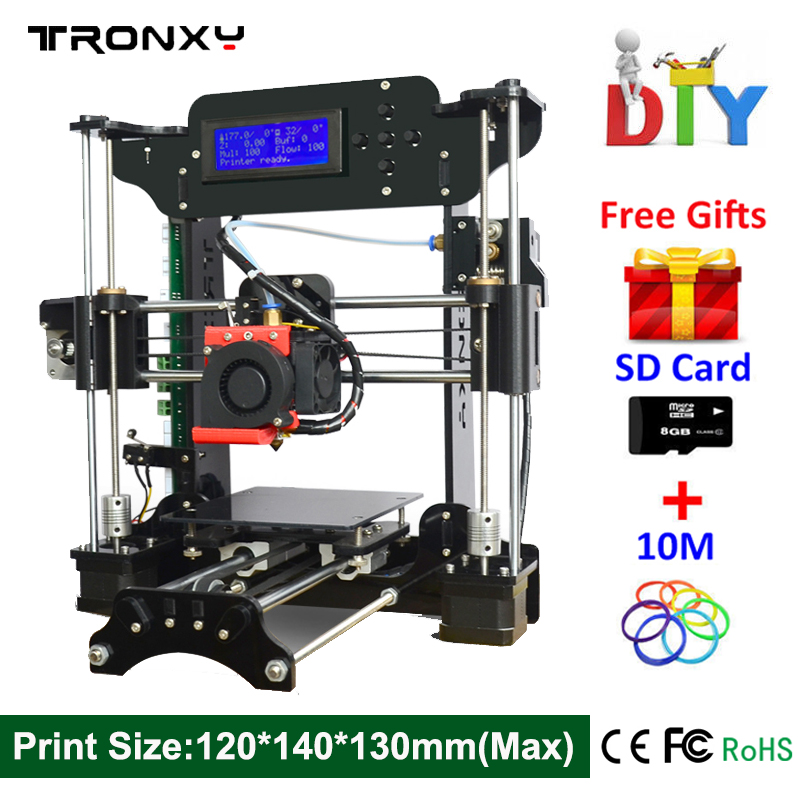 Hot Sale Cheap 3d printer High Quality Reprap DIY Assembly 3D Printer Kit With Free 10m Filament 8GB SD Card Free Fast Shipping align trex 500dfc main rotor head upgrade set h50181 align trex 500 parts free shipping with tracking