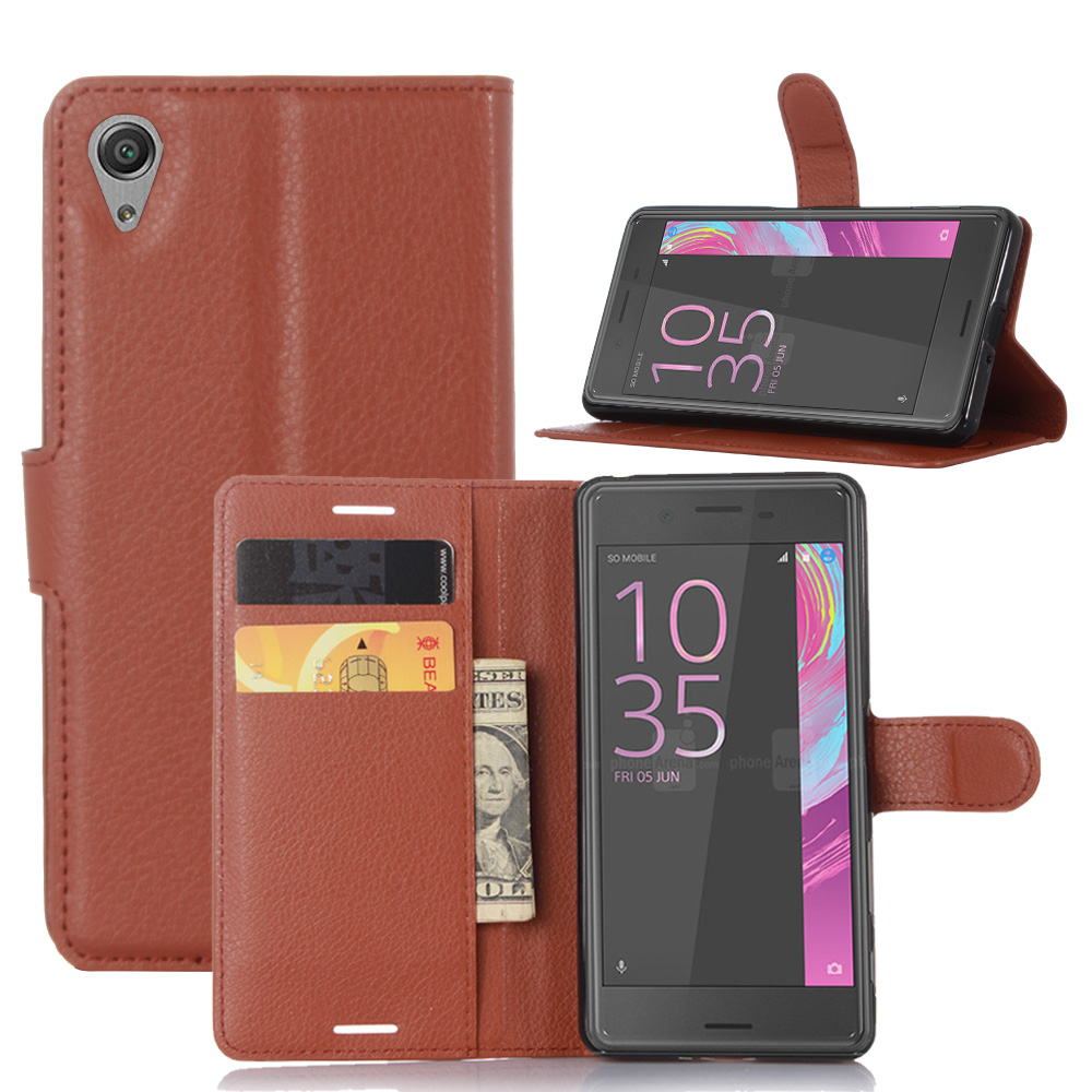 Case For SONY Xperia X Luxury Wallet PU Leather Case For SONY Xperia X Dual F5122 F5121 Stand Flip Card Hold Phone Cover Bags