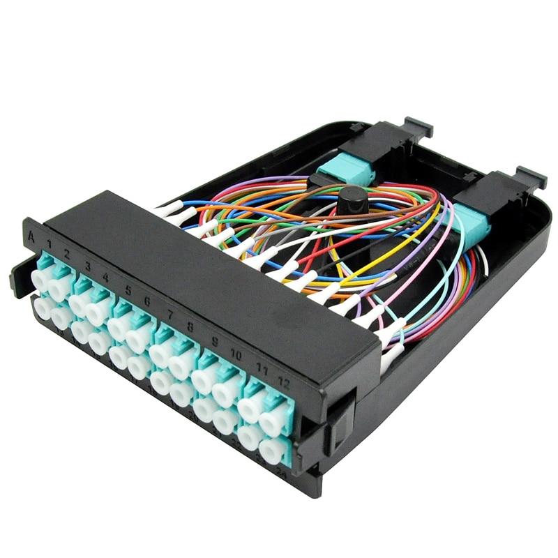 MTP-12 LC, 24 Lifler Tekli Modlu MTP/MPO KasetMTP-12 LC, 24 Lifler Tekli Modlu MTP/MPO Kaset