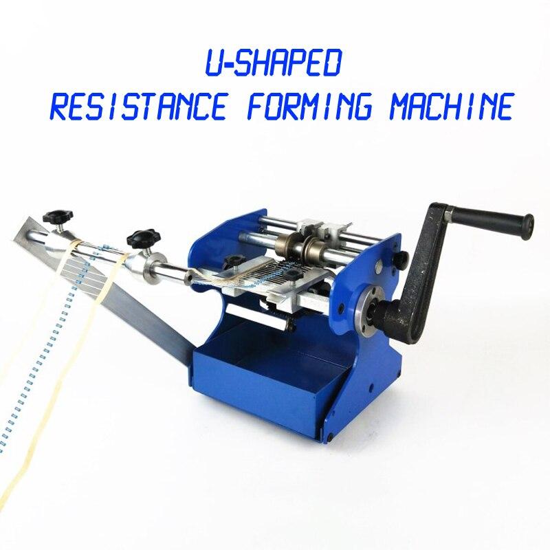 1PC U/F Tipo Resistor Axial Chumbo Dobrar Corte da Agitação da Mão & Resistência Dá Forma À Máquina Forma de U/ F Máquina de Moldagem