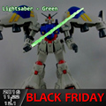 Green 2016 For Bandai Gundam Model Kit MG 1/100 Metal Light greenSaber Set Can Fix 1/6 Action Figure Christmas Free shipping