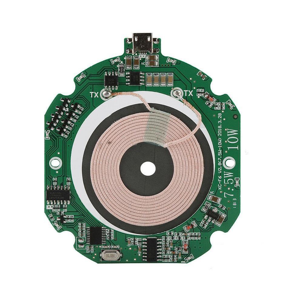 Высокое качество стандарт 10 Вт Qi Быстрый модуль беспроводного зарядного устройства передатчик PCBA печатная плата + катушка Сделай Сам заряд...
