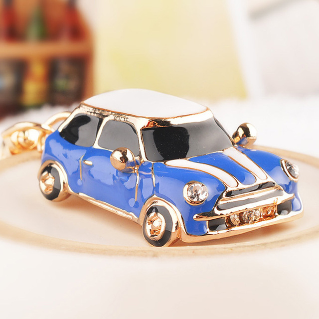 Creative Gift Ideas Cartoon Beetle Car Keychain Mini Cooper Key