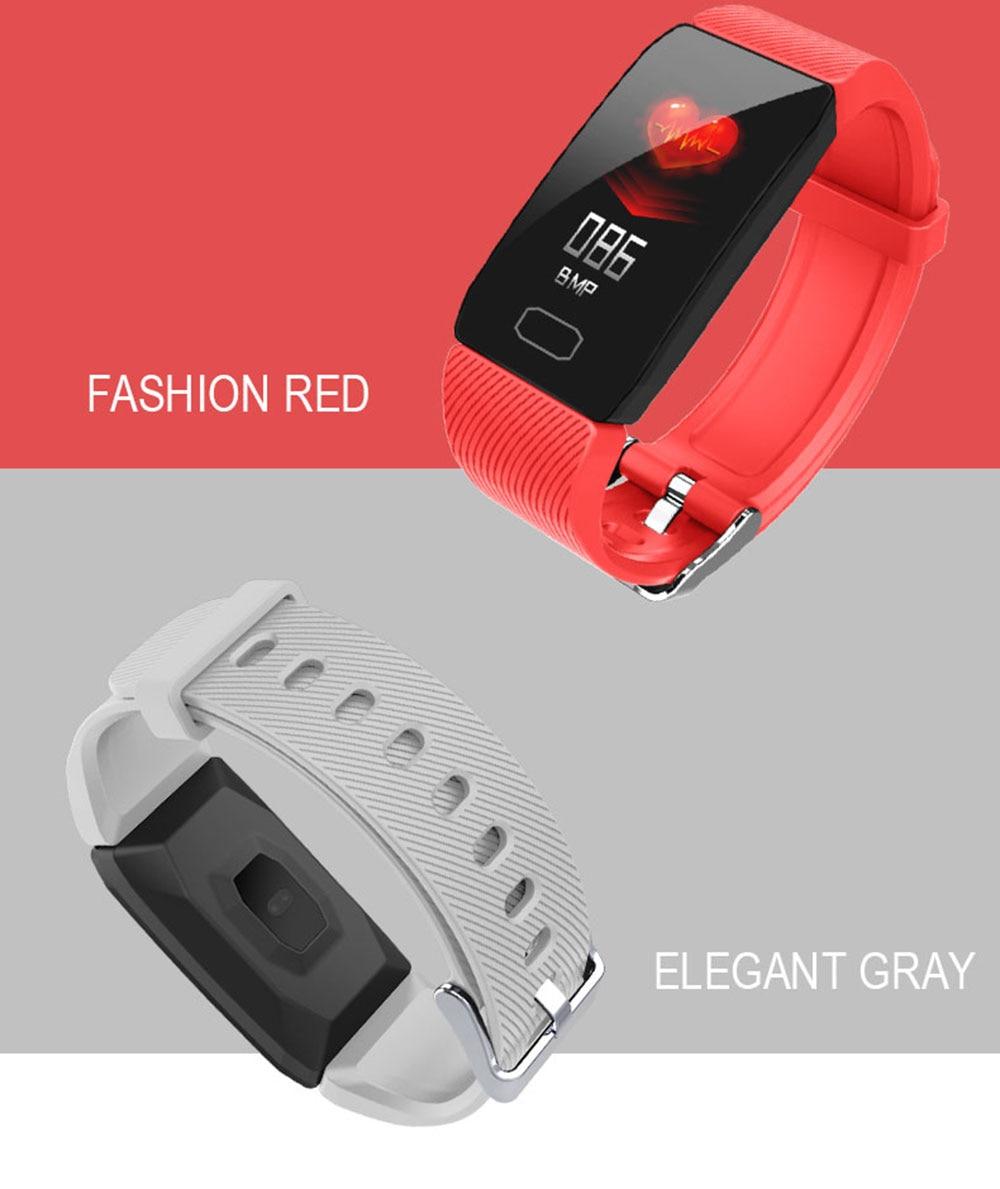 HTB1POq9XKL2gK0jSZFmq6A7iXXaR Smart Band Blood Pressure Q1 Heart Rate Monitor Fitness Tracker Smart Watch Fitness Bracelet Waterproof Weather Display Women