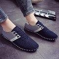 2016 Nova Moda Malha Respirável Sapatos Casuais Homens Primavera Outono Fundo Macio Para O Sexo Masculino Flats Z142