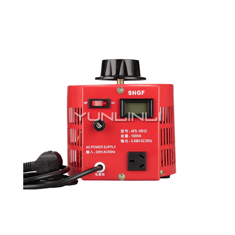 Single-phase Contact Regulator Frequency Converte 1000W Input 220v Adjustable 0-300V AC Boost Buck Copper Coil Power Supply 1KVA
