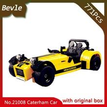 Bevle Store LEPIN 21008 771Pcs with original box Technic Series Carterham sports car 620R Building Blocks 2130 Children toys