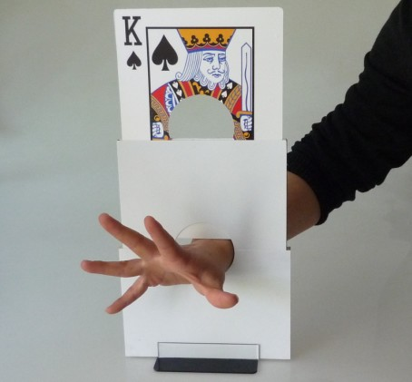 Playing Card Arm Chopper - Stage Magic Tricks,illusion,Fun,Classic Magic Toys,Party Magia Show,Recommend got it covered umbrella magic magic trick magic device stage gimmick illusion card magic