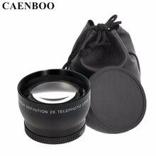 Caenboo 2.2×67 мм 72 мм цифровой высокой четкости 2.2X телефото объектив камеры для Canon EOS Nikon для Sony NEX зеркальные линзы аксессуары