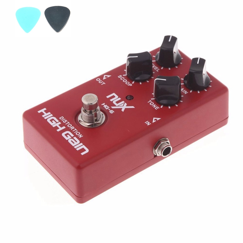 NUX HG-6 Guitar Distortion High Gain Electric Effect Pedal True Bypass Guitar Parts & Accessories free shipping black acoustic guitar electric guitar feet accessories guitar foot pedal guitar parts
