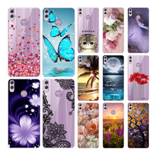 Goterfly soft silicone case for huawei honor 8C Case 6.26 inch cute printing protective Back cover Phone