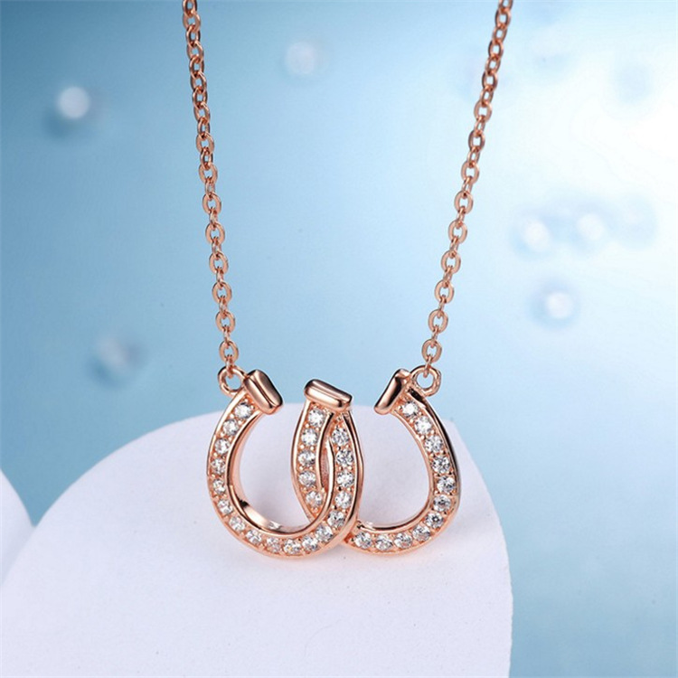 Buy horseshoe necklace rhinestone and get free shipping on AliExpress.com 417a4d4c597e